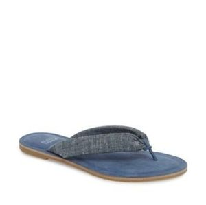 EILEEN FISHER   Flue padded leather lining thong flup flop sandals
